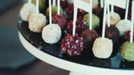 Various Cake Pops On Table video