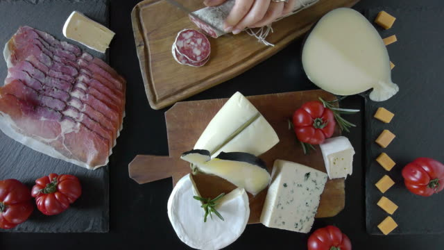 Various Cheese And Salami video