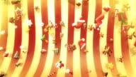 Various christmas symbols falling (red) - Loop video