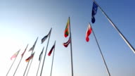 Various country flags from baltic countries video