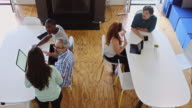Various Discussions at Busy Creative Workplace video