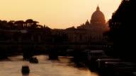 Vatican at sunset video