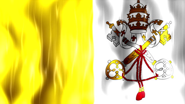 Vatican City State Flag Animation video