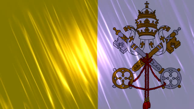 Vatican City State Flag Loopable Animation video
