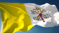 4K Vatican Flag - Loopable video
