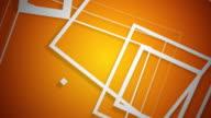 Vector Squares White on Orange video