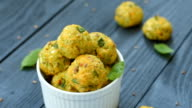 Vegetable balls with zucchini and Parmesan cheese video