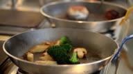 vegetable fried in a pan video