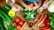 Vegetable in kitchen video