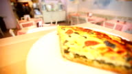 Vegetable quiche served on a plate video