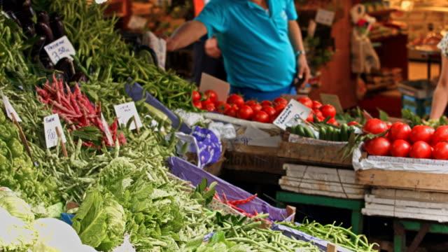 4K: Vegetables at farmer's market video