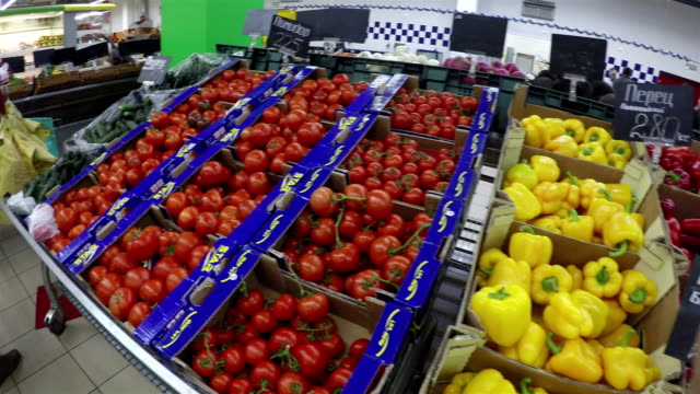 vegetables at supermarket video