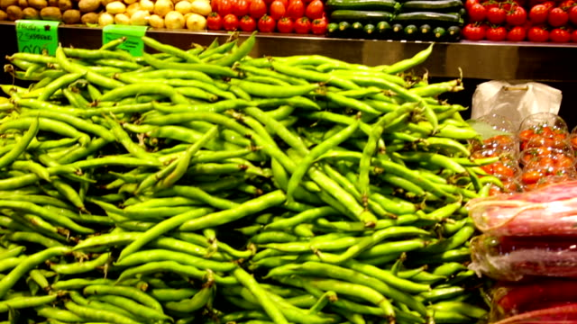 vegetables on market counter video
