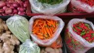 Vegetables sold at Flower Market, Bangkok video