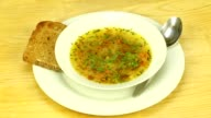 Vegetarian soup with vegetable broth video
