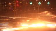 Vehicle Car Traffic Congestion City Street Night Traffic Rush Hour Time Lapse video