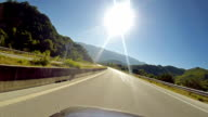 Vehicle point-of-view driving on California Highway 1 (aka Cabrillo Highway or Pacific Coast Highway) in the Big Sur area of Central California. video
