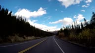 POV vehicle driving on scenic road video