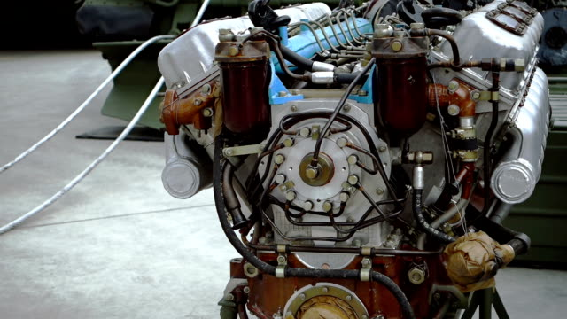 Vehicle engine at service deck video