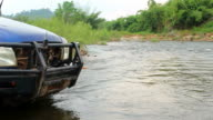 Vehicle in river video