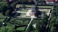 Veitschochheim Castle And Rococo Garden  - Aerial View - Bavaria,  Lower Franconia,  Landkreis Würzburg,  Germany video