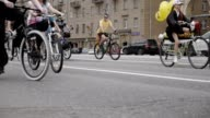 MOSCOW - MAY 31: Veloparad, it's day when big streets are opened for many cyclist on his bike video
