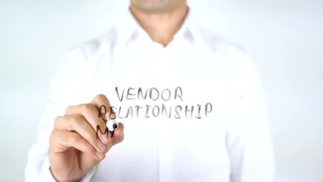Vendor Relaitionship Management, Man Writing on Glass video