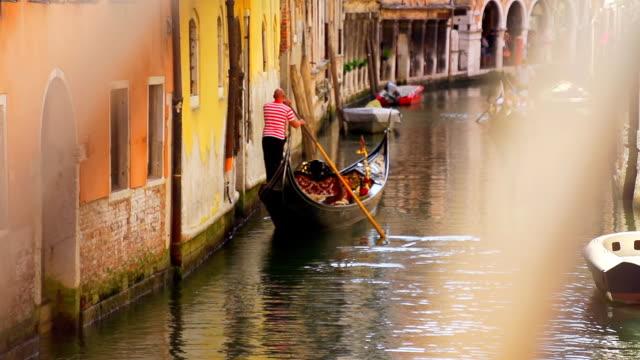 HD SUPER SLOW-MO: Venetian Gondolier video