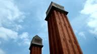 Venetian towers, Barcelona video