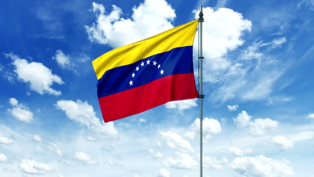 Venezuela flag animation, alpha channel video