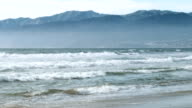 Venice Beach, Pacific Ocean and Santa Monica Mountains video
