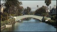 (HD1080) Venice Canals California: Cars Cross Bridge video