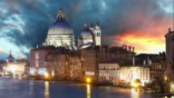 Venice - Grand Canal and Basilica, Time lapse video