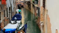 Venice Grand canal with gondolas, Italy video