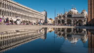 Venice in reflection ,timelapse video
