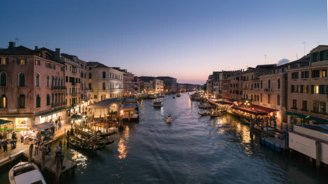 Venice Italy, Grand Canal sunset to night video