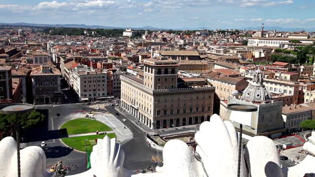 Venice square aerial view video