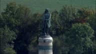 Vercingretorex Memorial  - Aerial View - Bourgogne, Cote d'Or, Arrondissement de Montbard, France video