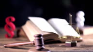 verdict, paragraphs and books, dolly shot video
