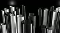 Vertical Metal Pipes Background Loop HD video