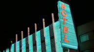 Vertical Neon Hotel Sign video