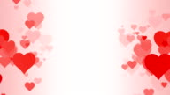 Vertical Rows of scrolling Hearts over White Background (Loopable) video
