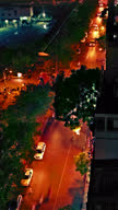 Vertical video of busy street video