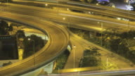 Very busy freeway time lapse in Hong Kong at night video