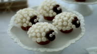 Very cute unique chocolate cupcake with sheep animal video