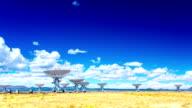 VLA Very Large Array radio telescope time lapse video