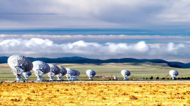 Very large array radio telescope timelapse video