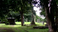 Very old christian cemetery video