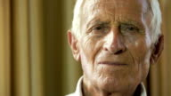 very old man portrait: aged, elderly, peaceful, senior, quiet video