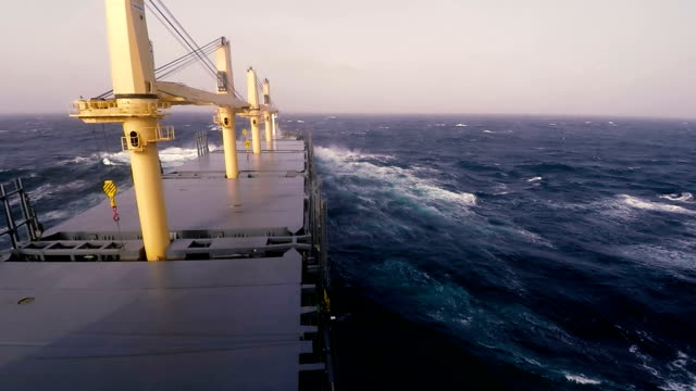 Vessel Sailing on Rough Sea video